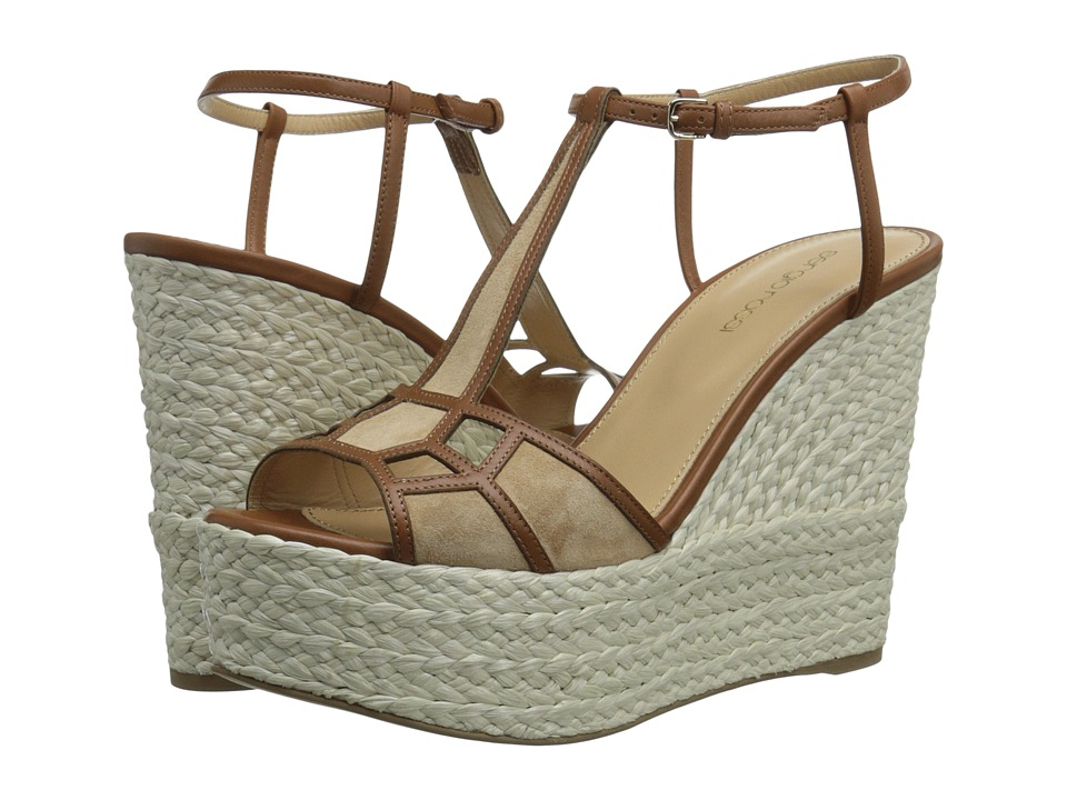 Sergio Rossi - Puzzle Wedge (Honey Cream) Women