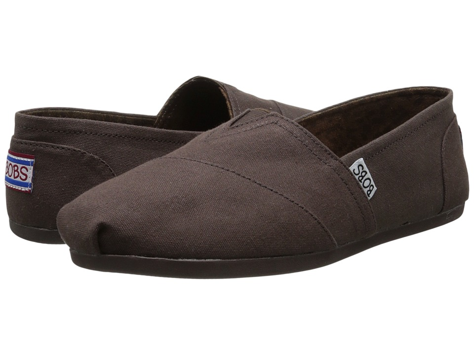 BOBS from SKECHERS - Bobs Plush - Peace Love (Chocolate) Women's Flat Shoes