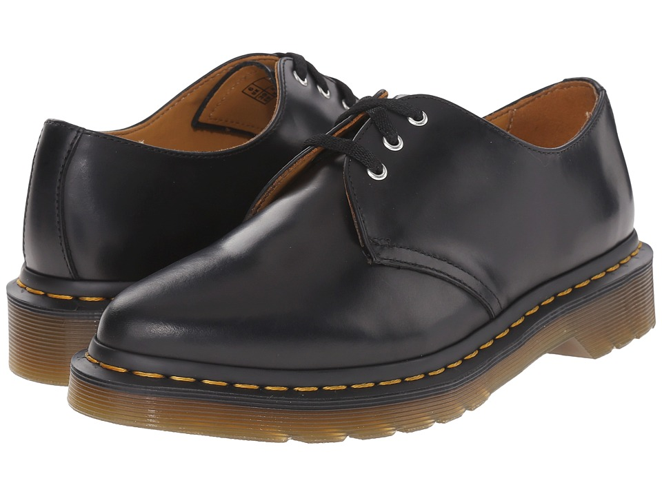 Dr. Martens - Dupree 3-Eye Shoe (Black/Polished Finoli) Women's Lace up casual Shoes