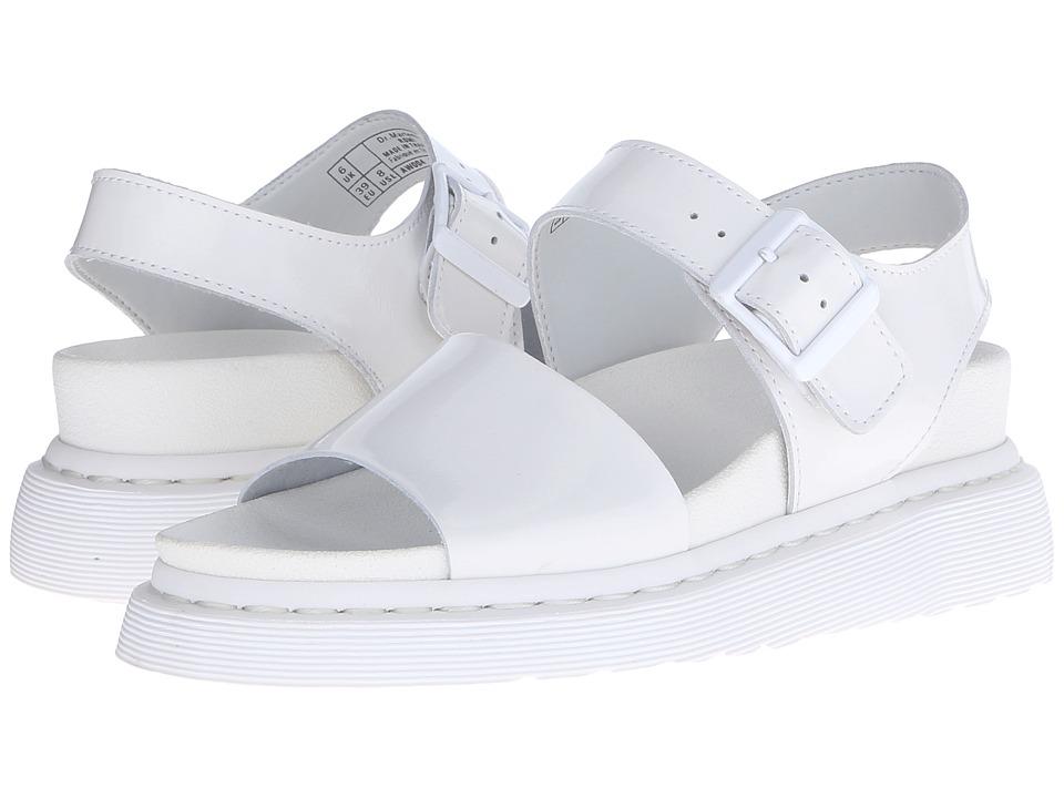 Dr. Martens - Romi Y Strap Sandal (White/Petrol) Women's Sandals