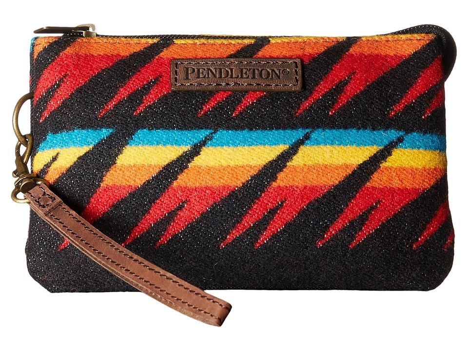Pendleton - Three Pocket Keeper (Arrow Path Black) Clutch Handbags