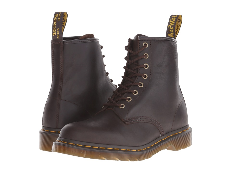 Dr. Martens - 1460 8-Eye Boot Soft Leather (Chocolate Carpathian) Men's Lace-up Boots