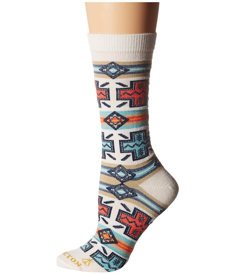 Pendleton - Pueblo Cross Crew Socks (Natural) Women's Crew Cut Socks Shoes