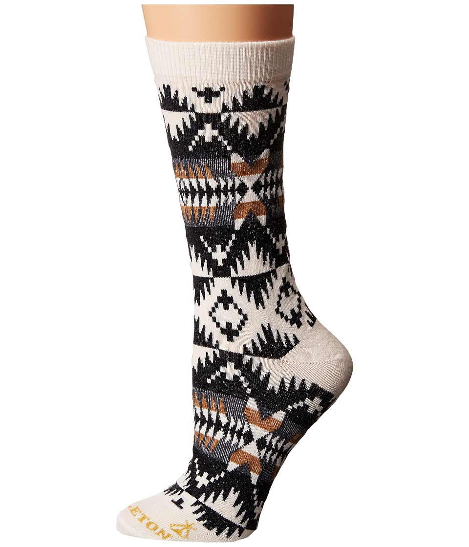 Pendleton - Spider Rock Crew Socks (Natural) Women's Crew Cut Socks Shoes