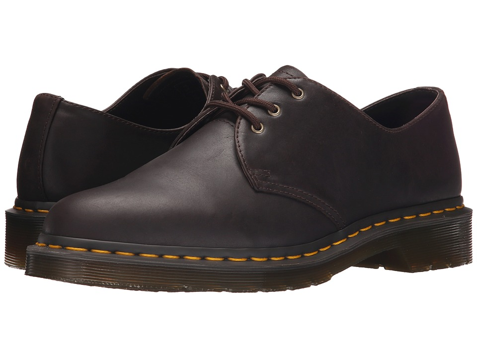 Dr. Martens - 1461 3-Eye Shoe Soft Leather (Chocolate Carpathian) Men's Lace up casual Shoes