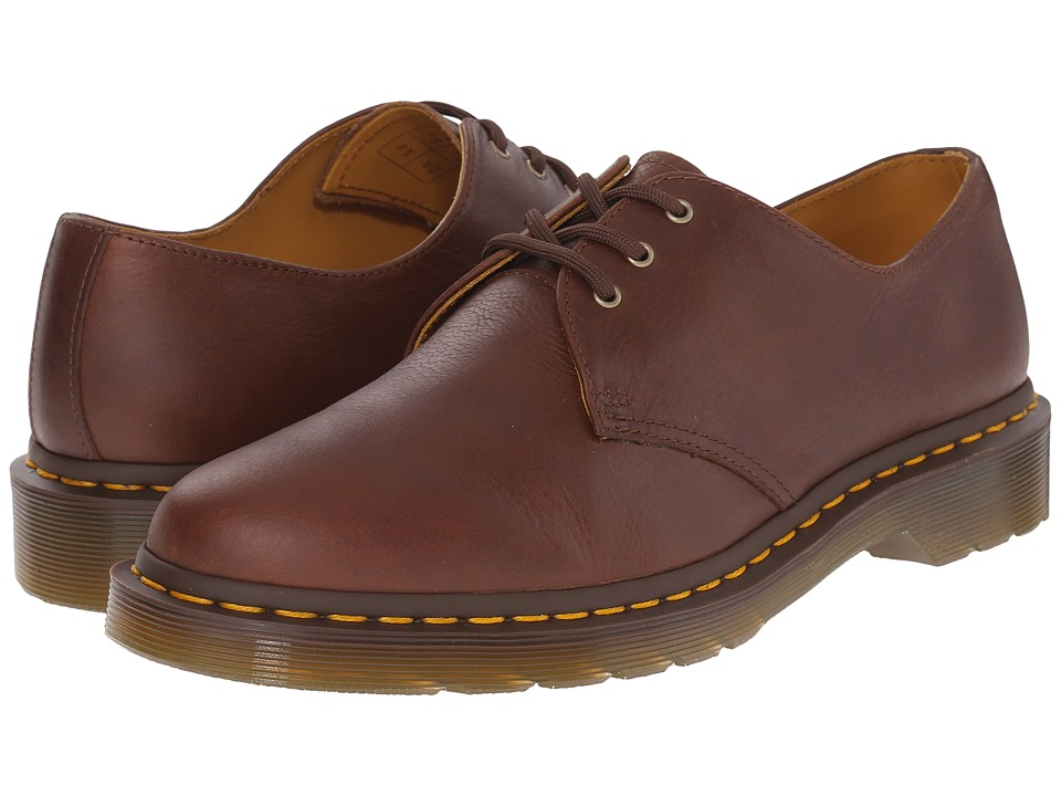 Dr. Martens - 1461 3-Eye Shoe Soft Leather (Tan Carpathian) Men's Lace up casual Shoes