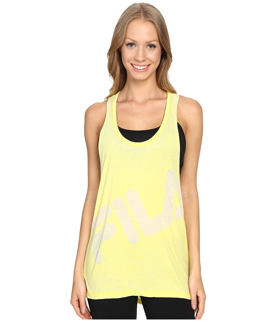 Fila - Twist Back Tank Top (Lemon Tart Heather) Women's Sleeveless