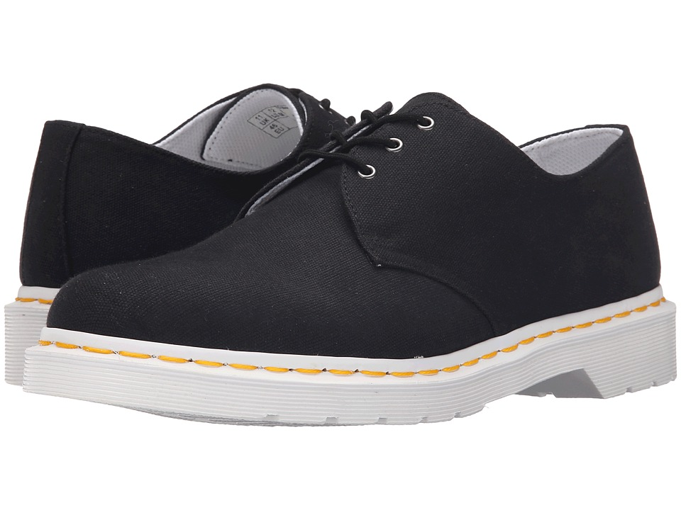 Dr. Martens - Lester 3-Eye Shoe Canvas (Black Canvas) Men