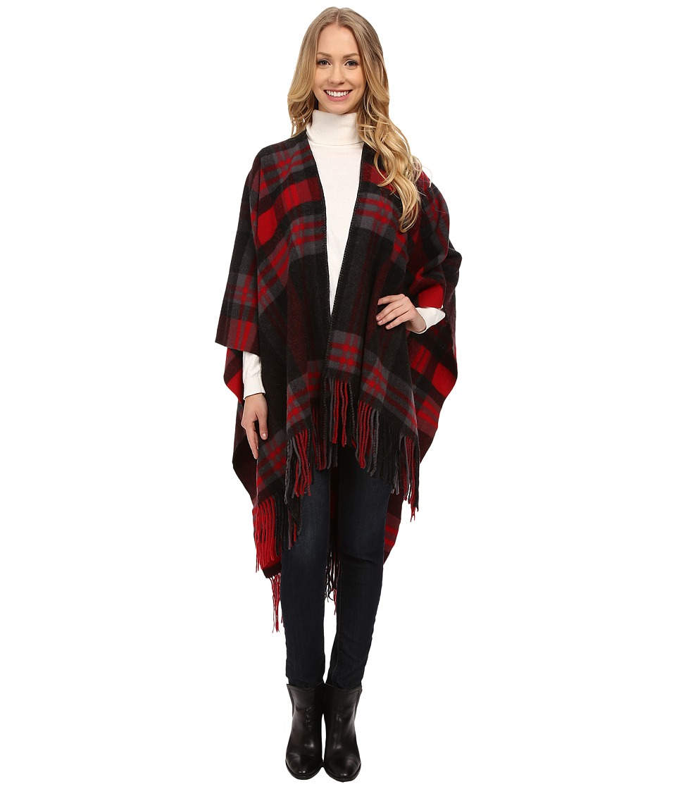 Pendleton - Plaid Blanket Shawl (Red) Women's Sweater