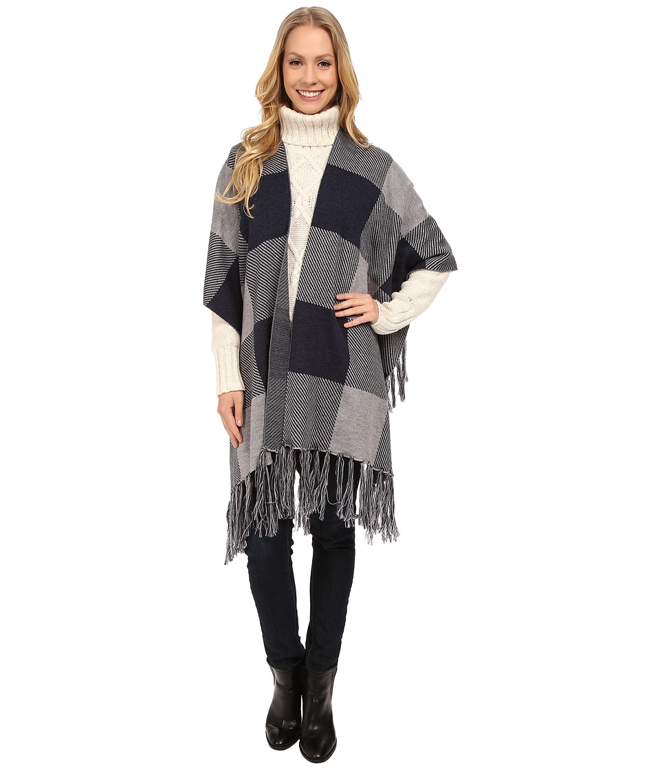 Pendleton - Triangle Blanket Shawl (Hillside Check) Women's Sweater