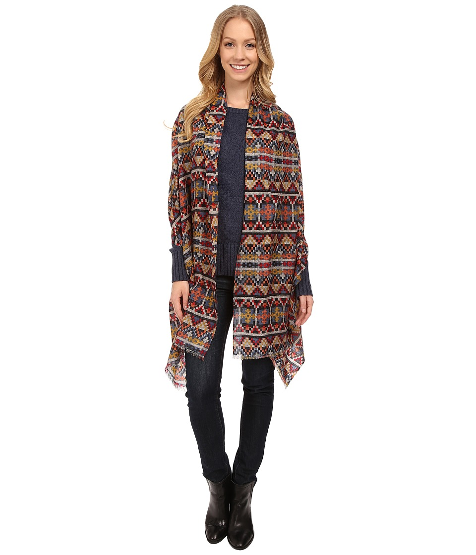 Pendleton - Printed Featherweight Wool Shawl (Geo Tapestry) Women