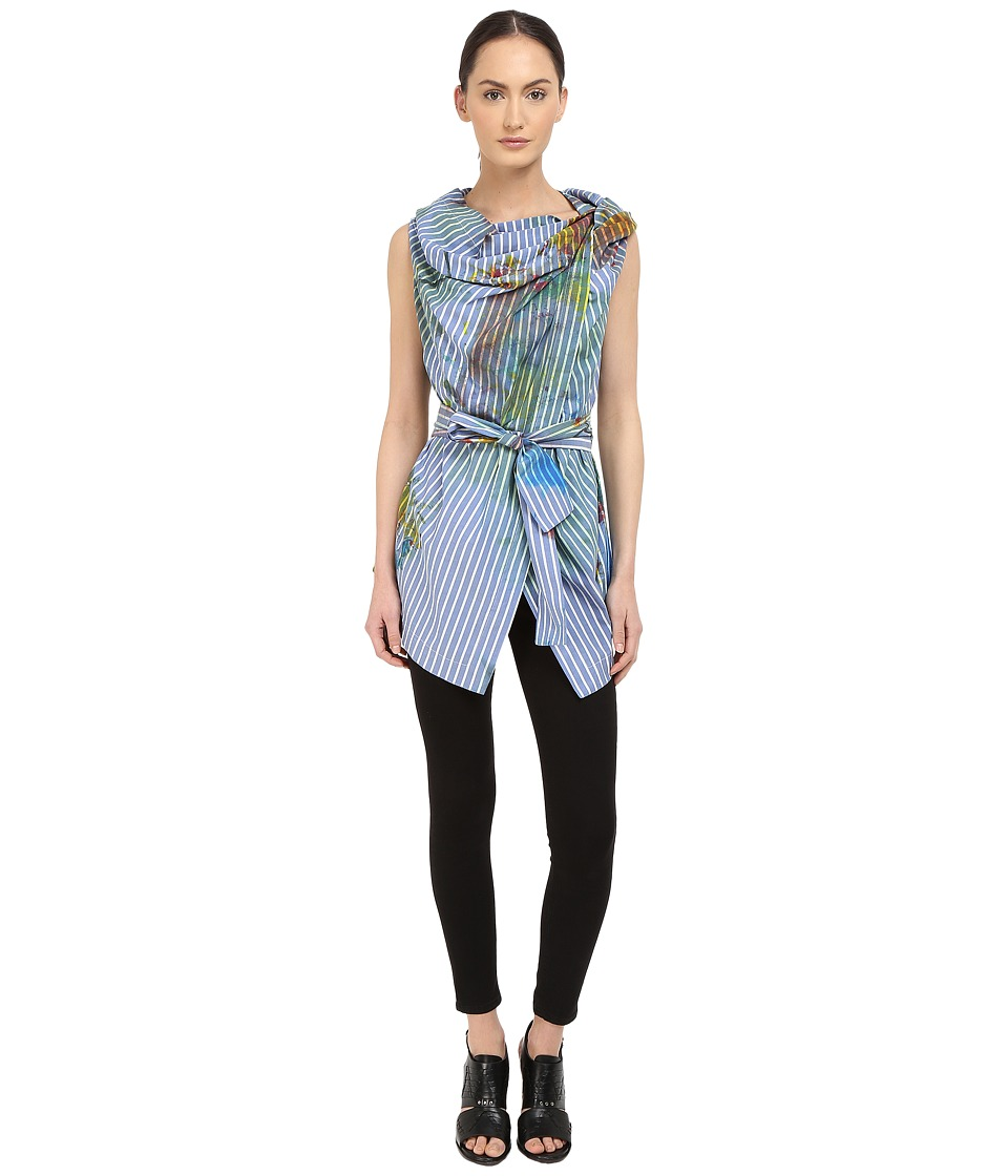 Vivienne Westwood - Short Sleeve Square Blouse (Multi) Women's Blouse