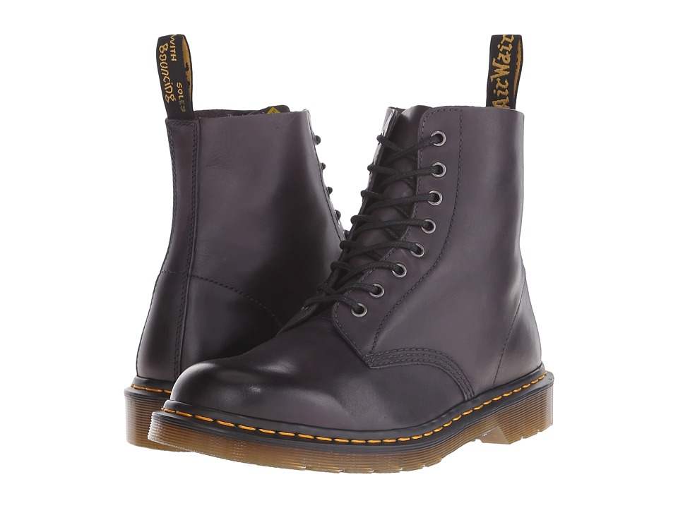 Dr. Martens - Pascal 8-Eye Boot (Charcoal Temperley) Men's Lace-up Boots