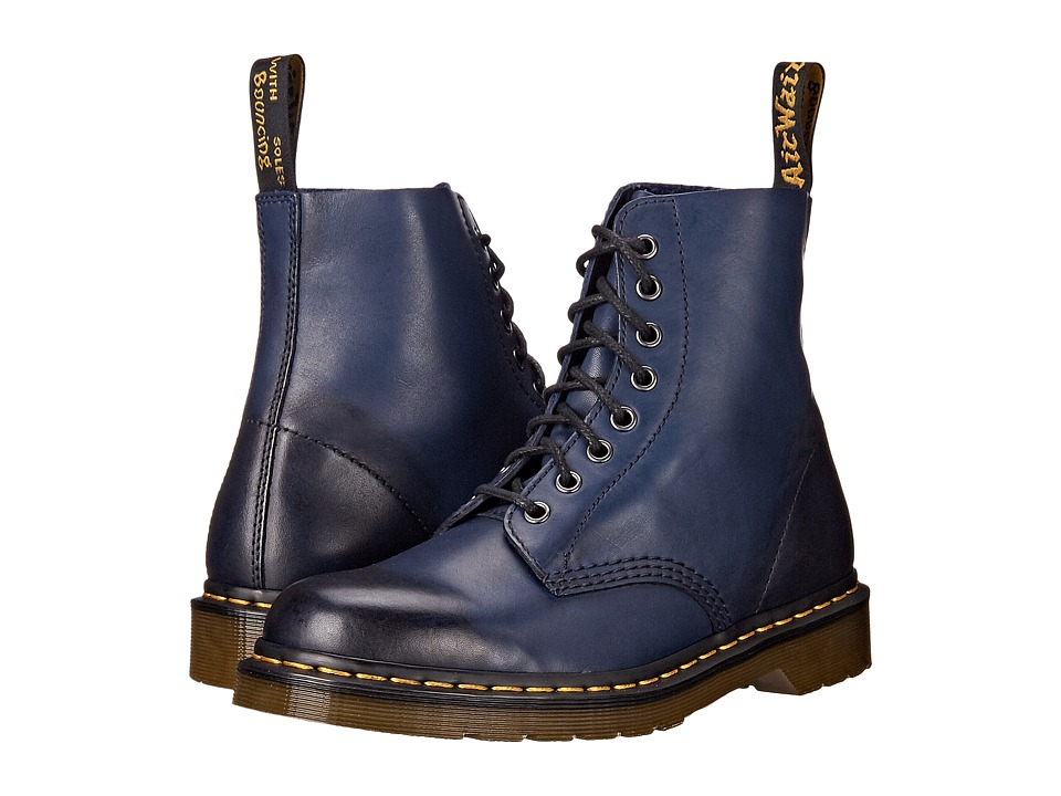Dr. Martens - Pascal 8-Eye Boot (Navy Temperley) Men's Lace-up Boots