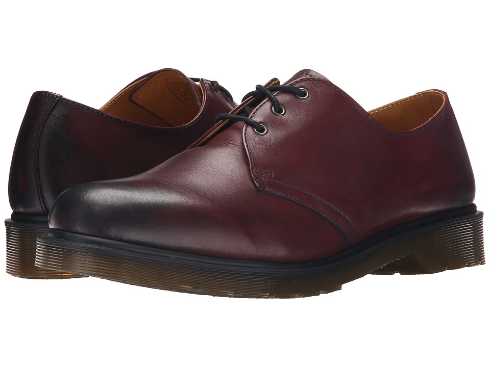 Dr. Martens - 1461 3-Eye Shoe (Cherry Red Temperley) Men's Lace up casual Shoes