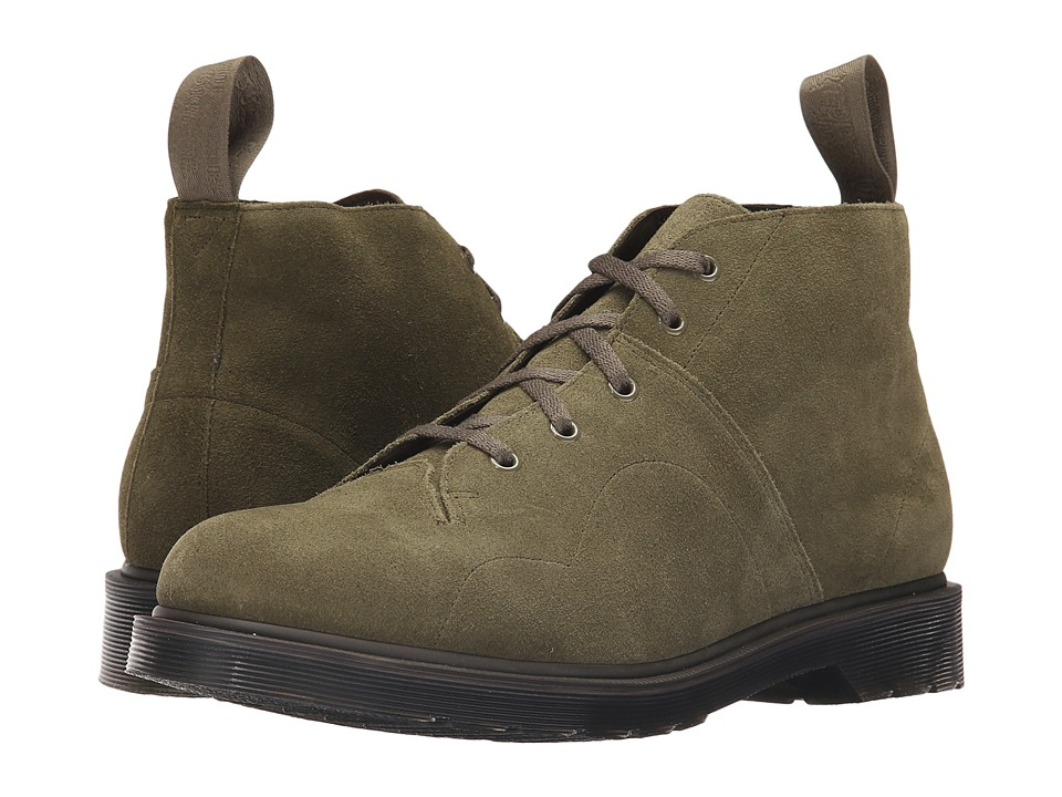 Dr. Martens - Church 5-Eye Monkey Boot (Khaki/Hi Suede WP) Men's Lace-up Boots