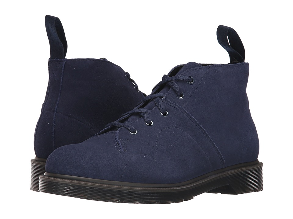 Dr. Martens - Church 5-Eye Monkey Boot (Navy/Hi Suede WP) Men's Lace-up Boots