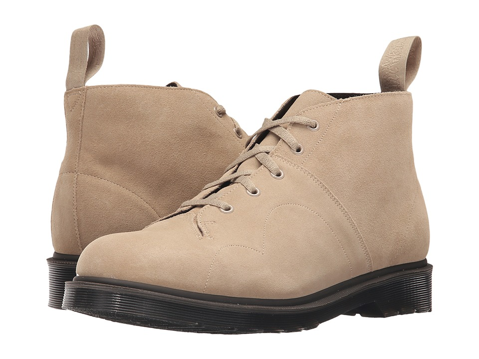 Dr. Martens - Church 5-Eye Monkey Boot (Milkshake/Hi Suede WP) Men's Lace-up Boots
