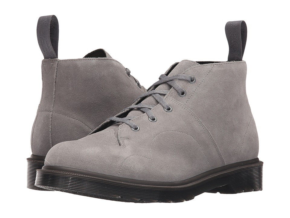 Dr. Martens - Church 5-Eye Monkey Boot (Grey Marle/Hi Suede WP) Men's Lace-up Boots
