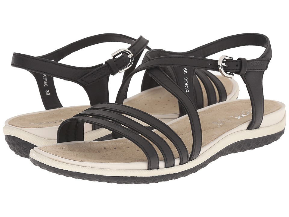 Geox - WSANDALVEGA6 (Black) Women's Sandals
