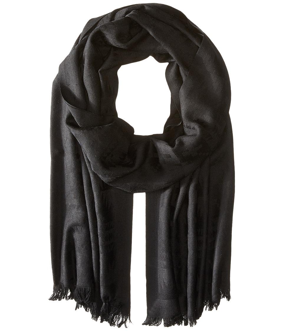 Pendleton - Luxe Weave Wool Scarf (Black) Scarves