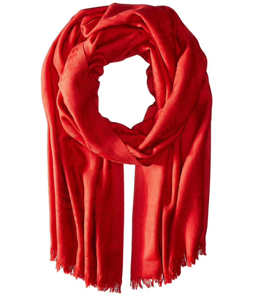 Pendleton - Luxe Weave Wool Scarf (Red Rock) Scarves