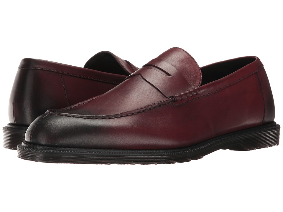 Dr. Martens - Penton Bar Loafer (Cherry Red Temperley) Men's Slip on Shoes