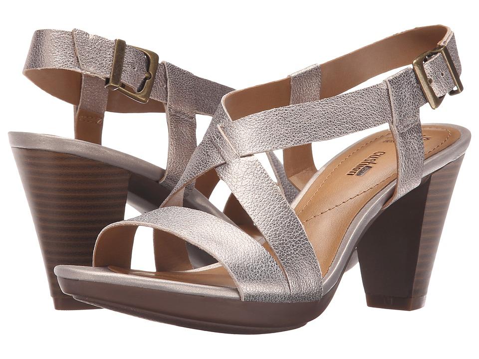 Clarks - Jaelyn Fog (Gold) Women's Toe Open Shoes