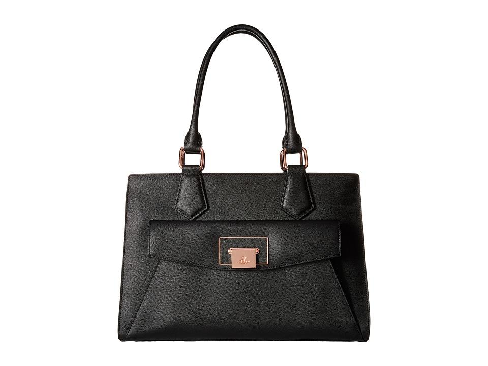 Vivienne Westwood - Opio Saffiano (Black) Satchel Handbags