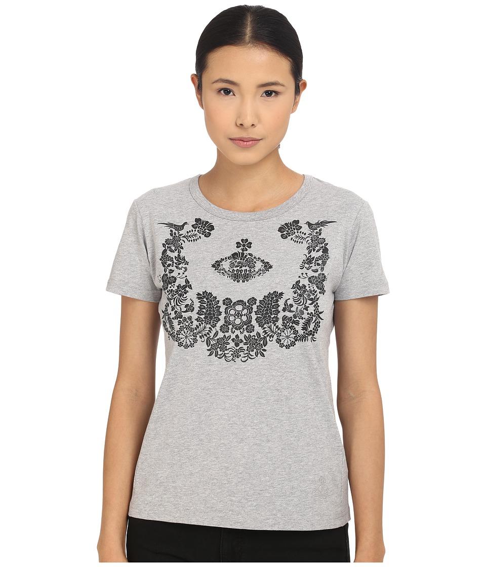 Vivienne Westwood - Floral Orb T-Shirt (Grey Melange) Women's T Shirt