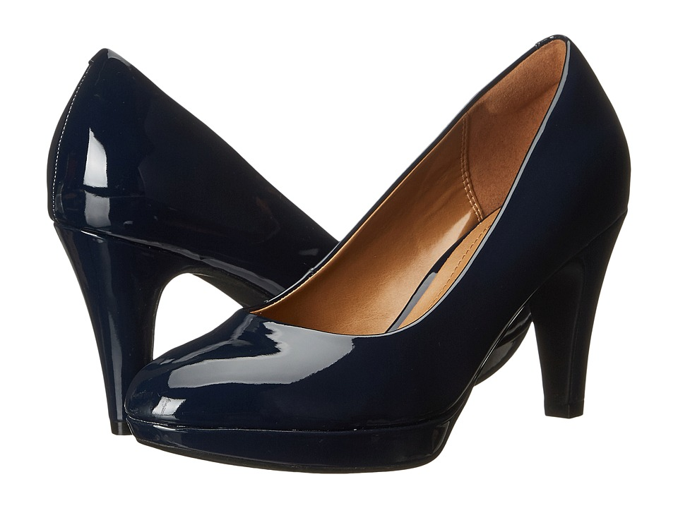 Clarks - Brier Dolly (Navy) Women's Shoes