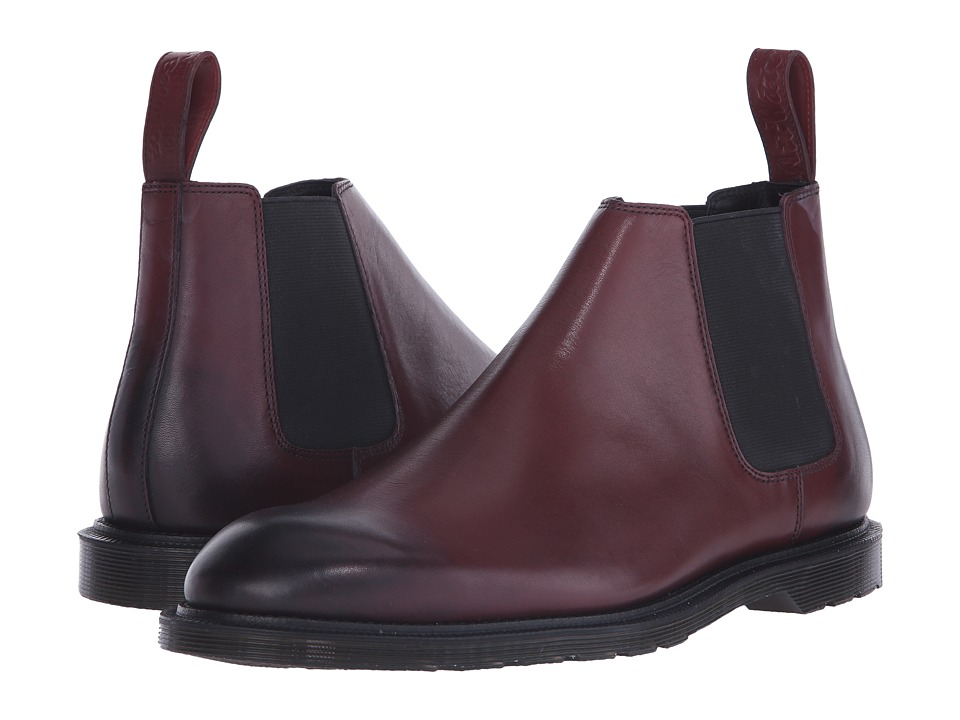 Dr. Martens Wilde Low Chelsea Boot (Cherry Red Temperley) Men