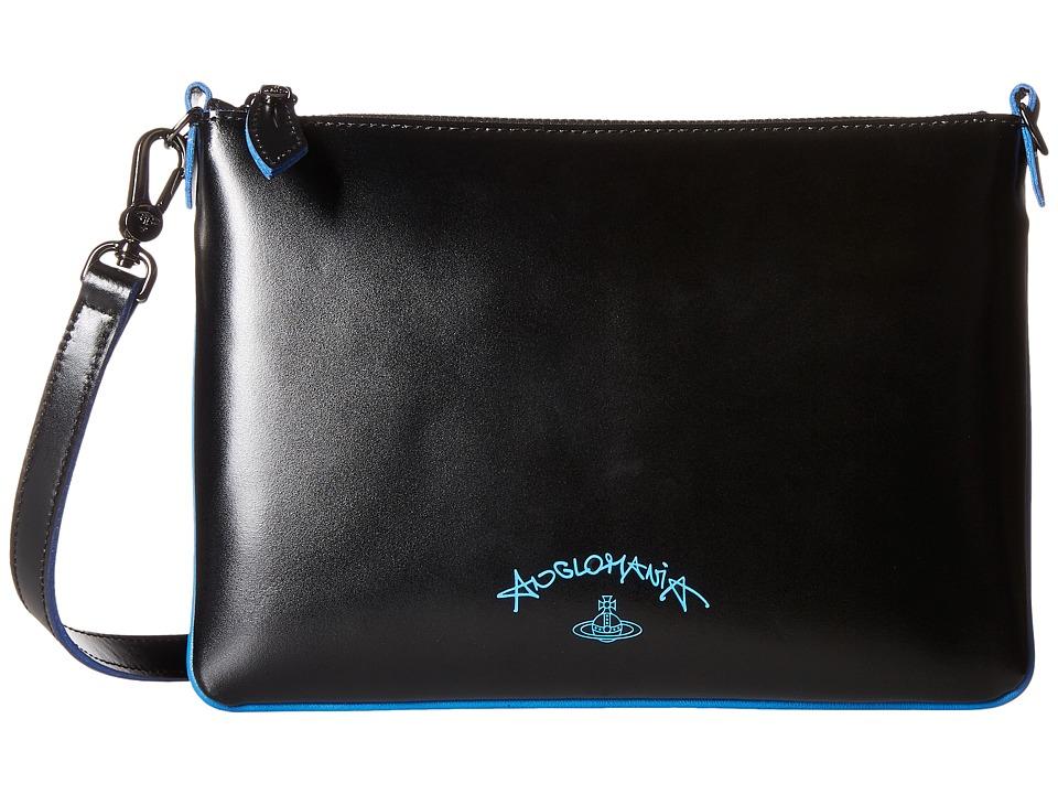 Vivienne Westwood - Split Leather (Black) Cross Body Handbags