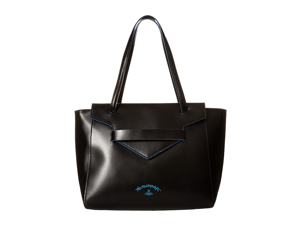 Vivienne Westwood - Split Leather (Black) Tote Handbags
