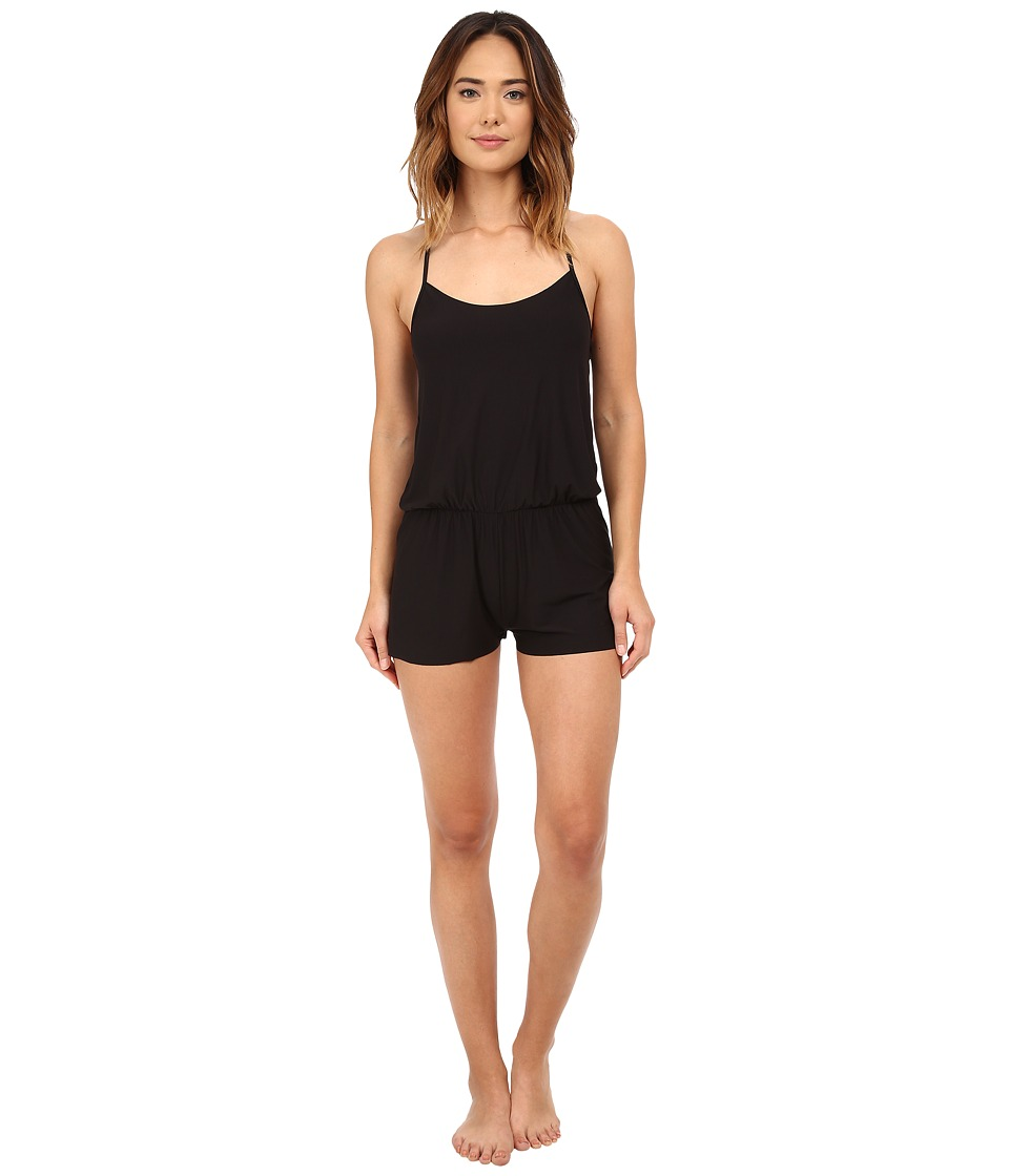 Commando - Butter T-Back Romper SL113 (Midnight/Grey) Women's Jumpsuit & Rompers One Piece