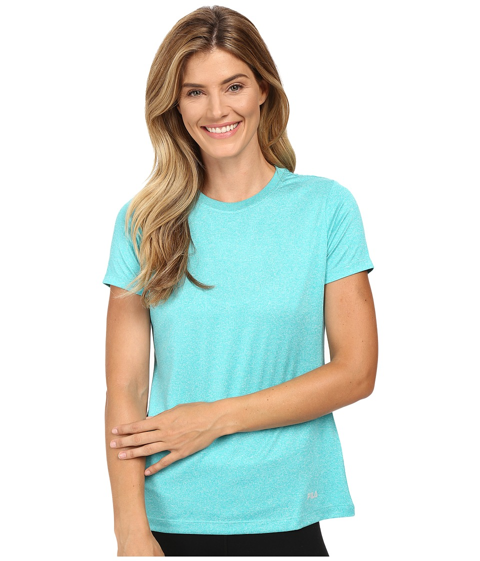 Fila - Heather Crew Neck Tee (Ceramic Heather) Women's T Shirt