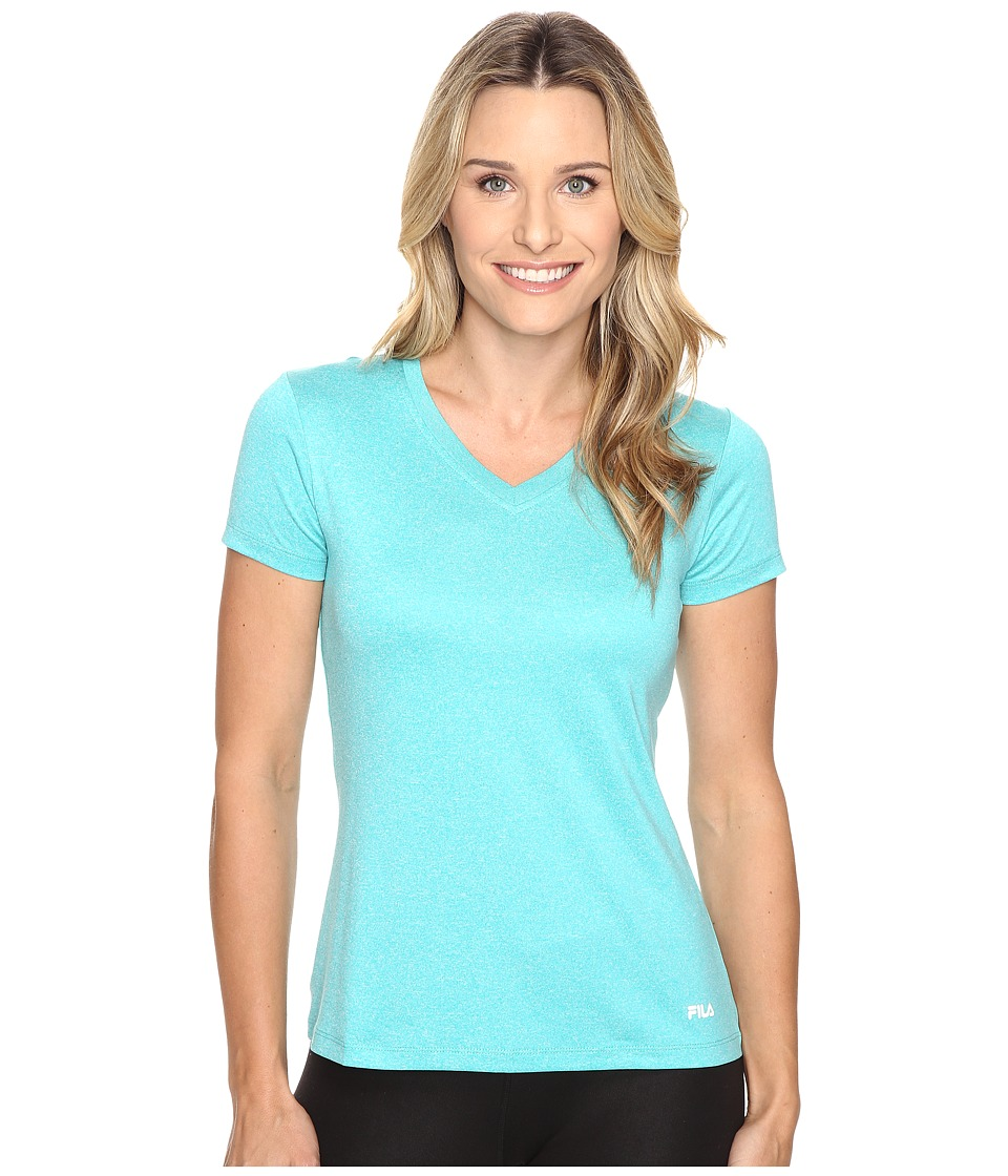 Fila - Heather V-Neck Tee (Ceramic Heather) Women's T Shirt