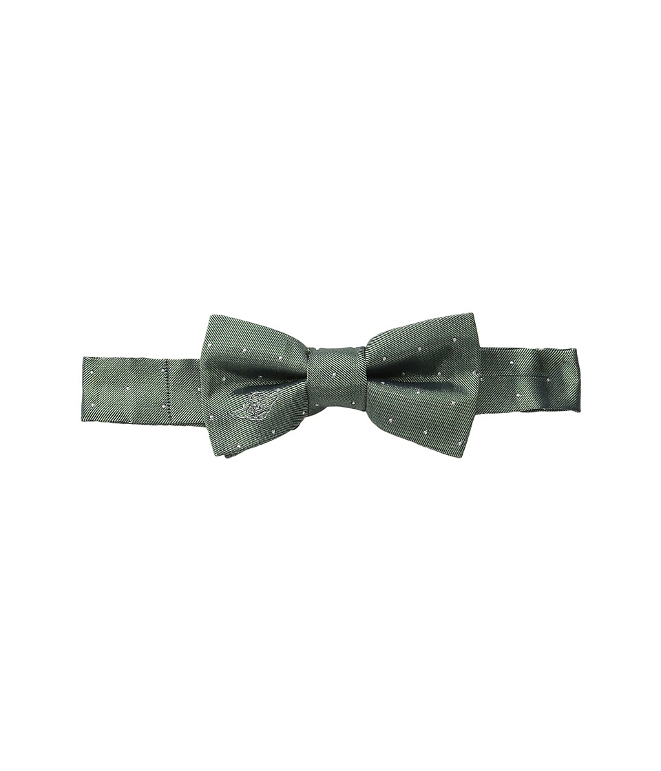 Cufflinks Inc. - Star Warstm Embroidered Yoda Micro Dot Silk Bow Tie (Toddler/Little Kid/Big Kid) (Green) Ties