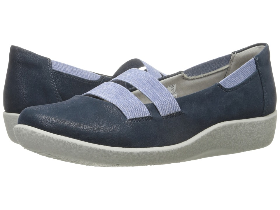 Clarks - Sillian Rest (Navy) Women's Shoes