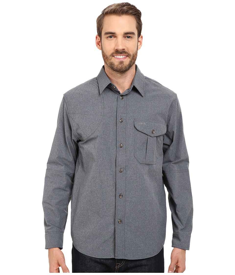 Filson - Right Handed Shooting Shirt (Carbon Blue) Men's Clothing