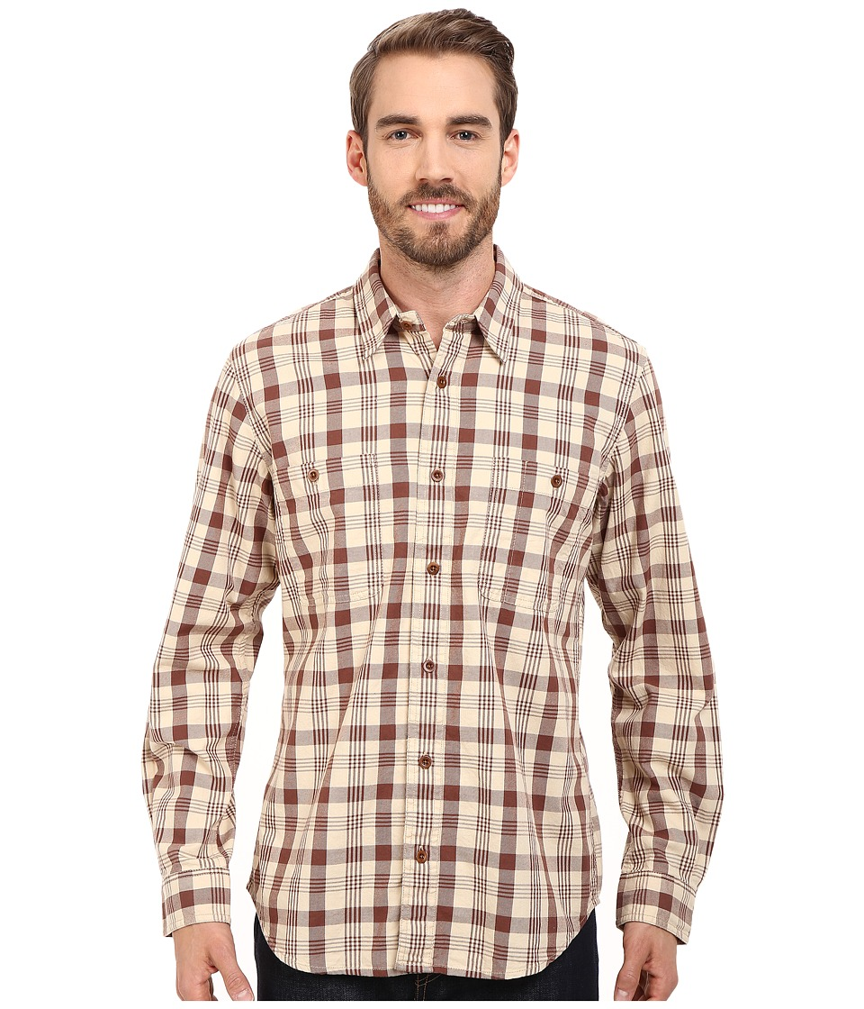Filson - Wildwood Shirt (Light Desert Tan/Old Brick) Men's Clothing
