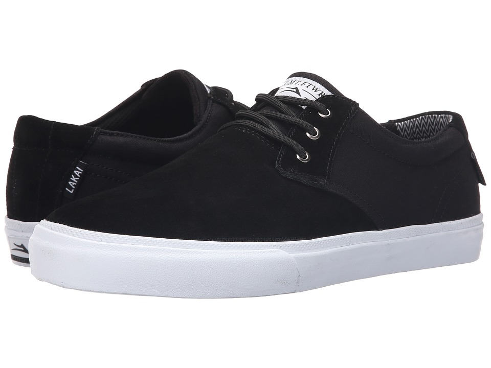 Lakai - MJ (Black Suede/Canvas 1) Men's Skate Shoes