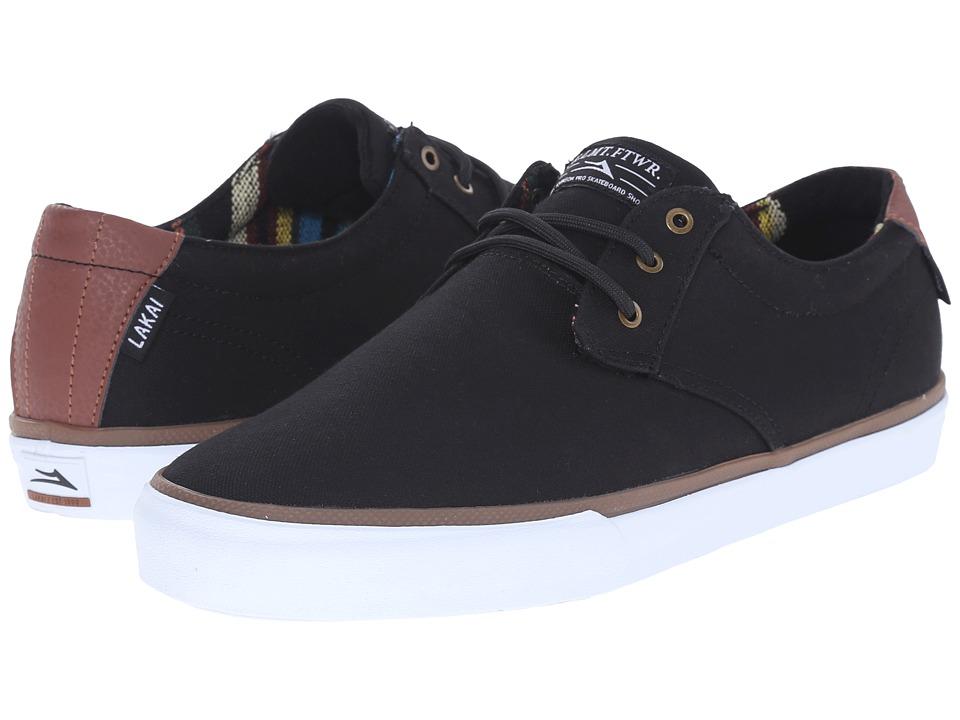 Lakai - MJ (Black/Brown Canvas) Men's Skate Shoes