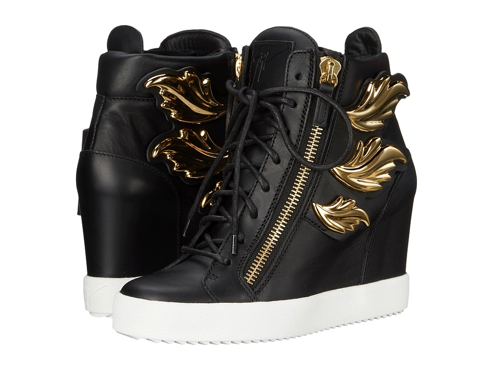Giuseppe Zanotti - Hi-Top Wedge Winged Sneaker (Birel Nero) Women's Wedge Shoes