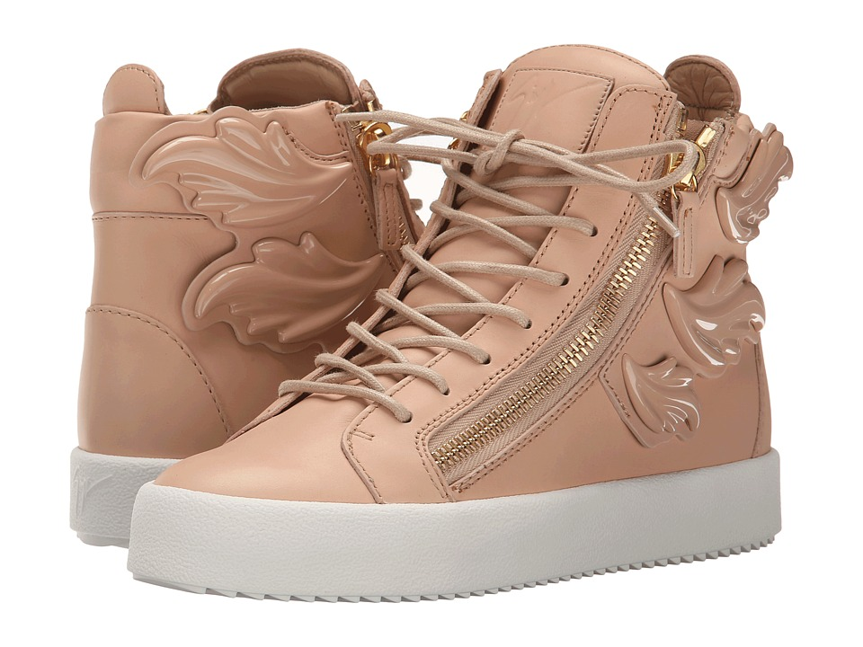 Giuseppe Zanotti - Hi-Top Winged Sneaker (Birel Shell) Women's Lace up casual Shoes