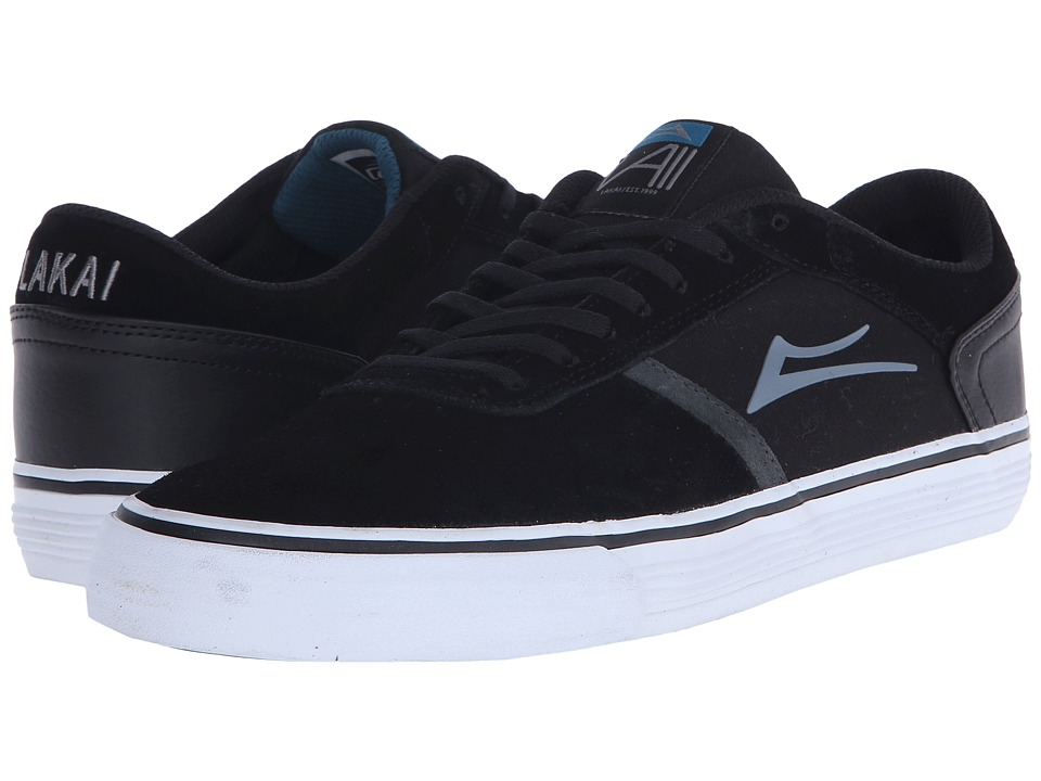 Lakai - Vincent 2 (Black Suede) Men's Skate Shoes