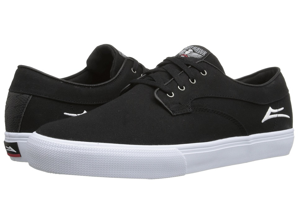 Lakai - Riley Hawk (Black Canvas) Men's Skate Shoes