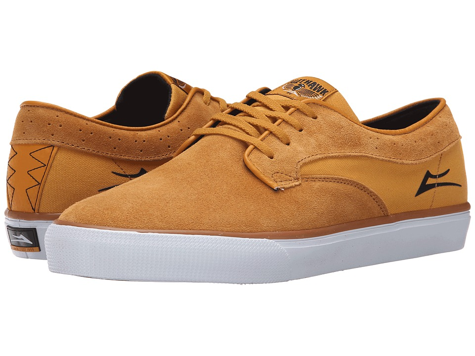Lakai - Riley Hawk (Gold Suede) Men's Skate Shoes