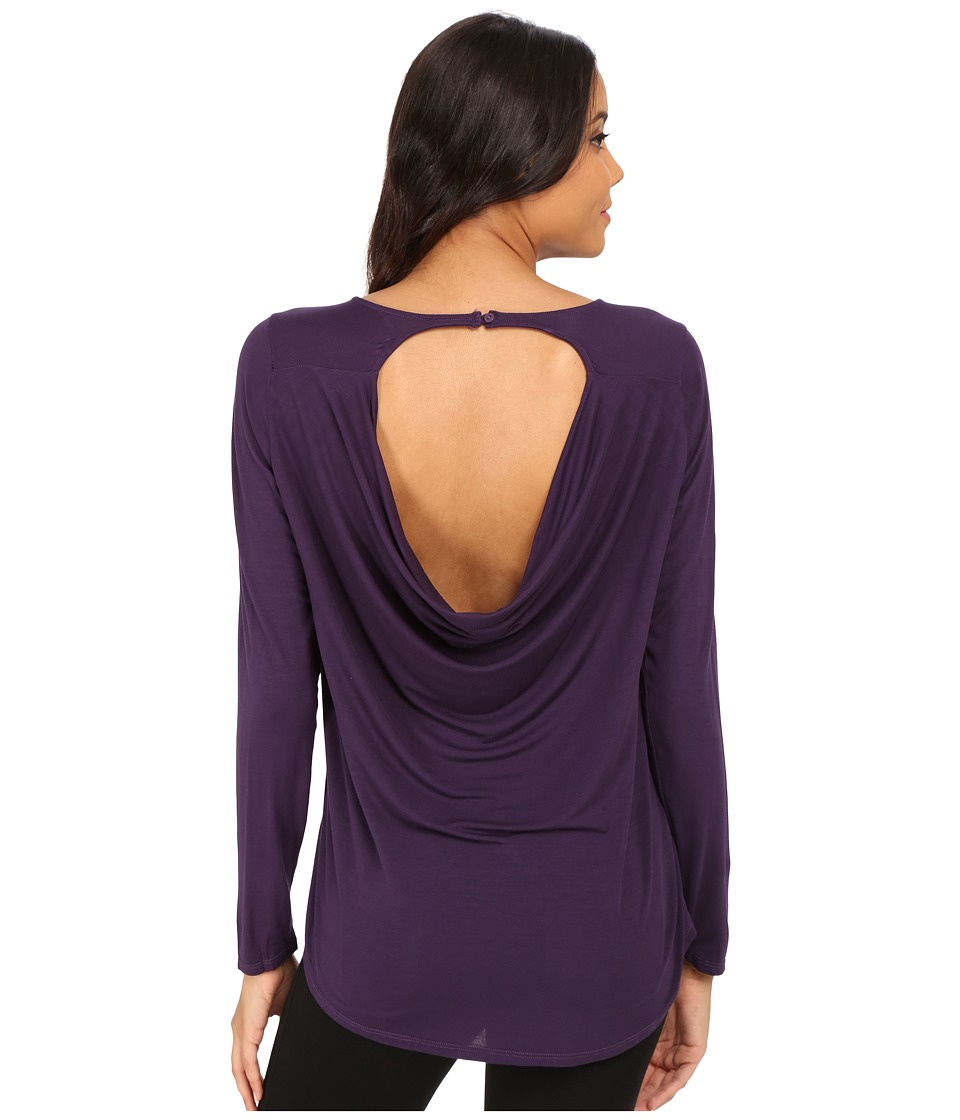 Michael Stars - Jersey Lycra Long Sleeve Crew w/ Back Drape (Gypsy) Women's T Shirt