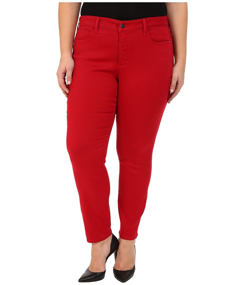 NYDJ Plus Size - Plus Size Alina Leggings (Cardinal Red) Women